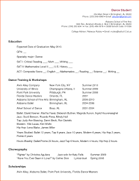 Dance Resume For College Dance Resume Template for College Free Resume Templates 1