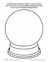 Small Picture Souvenir Snow Globe Worksheet Educationcom