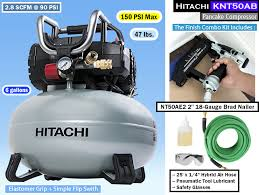 hitachi pancake air compressor. hitachi knt50ab | pancake compressor kit air