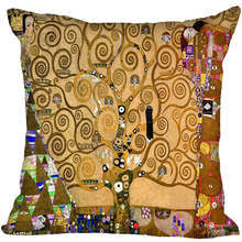 special offer promotion gustav klimt style throw pillowcase square pillow er custom gift 40x40cm china
