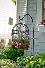 7 stylish diy birdcage planters to