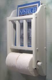 Toilet Paper Holder With Magazine Rack Choose your color Magazine Rack with Toilet Paper tissue Holder 5