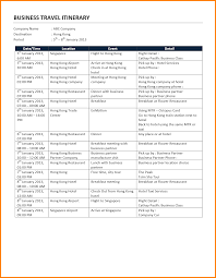 what is a travel itinerary 027 free travel itinerary template create business trip