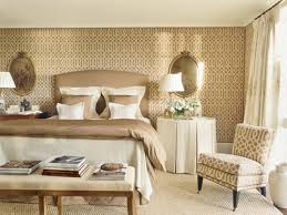 beautiful bedroom decoration with beige wallpaper for extra