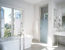 los angeles glass shower door with rectangular bathroom mirrors transitional and mirror window treatments