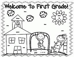 Small Picture Free Coloring Pages For First Grade Coloring Home