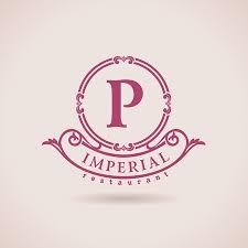 Restaurant P L Example Luxury Logo Restaurant Calligraphic Pattern Elegant Decor Elements