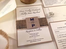 sle burlap wedding invitation monogram invitation initials rustic invitations navy blue wedding invitations beach wedding ivory taupe