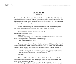 of mice and men chapter original writting a level english  document image preview