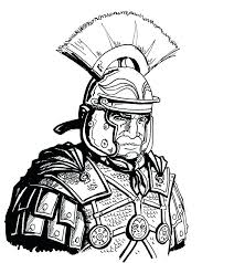 Roman Soldier Coloring Pages Free Drawing Images For Adults Page