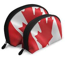 makeup bag flag of canada portable s cosmetic bags for friend gift 2 piece wl