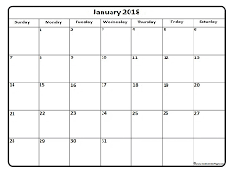 calendar january 2018 template january 2018 calendar january 2018 calendar printable
