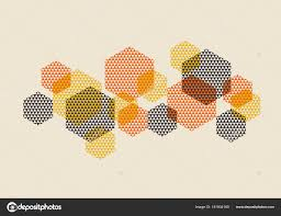 60s Graphic Design Style Geometric Pattern Vector Illustration In Retro 60s Style