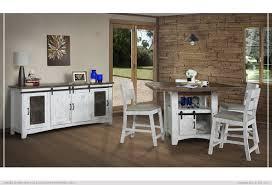 white sliding barn doors. Pueblo White Counter Height Table With Sliding Barn Door Doors