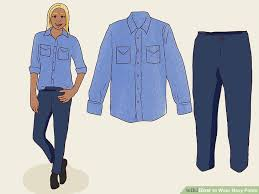 Pants Shirt 3 Ways To Wear Navy Pants Wikihow