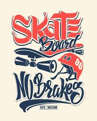 Premium Vector | <b>Skate</b> board <b>no brakes</b>