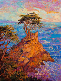color mixing lone cypress the most famous cypress tree in monterey is painted here in color and strong brush strokes by california impressionist