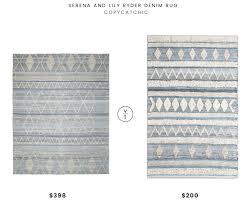 serena and lily ryder denim rug 5x7 398 vs world market ivory textured diamond denim