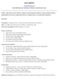 Resume High School Senior Resumes For Collegees Sample Admissions