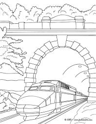 Coloriages Thalys Sous Le Pont Colorier Coloriage Lx Ht Train