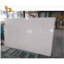 snow white artificial stone marble slab for kitchen countertop top
