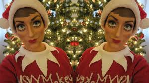 elf on the shelf doll makeup tutorial