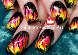 Robin Moses Nail Art: Neon Water Marble Nails without the water ...