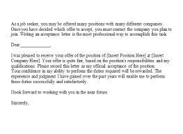 Employment Acceptance Letter 14 Sample Acceptance Letters Writing Letters Formats