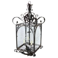 french wrought iron hanging lantern for
