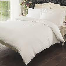 cotton sateen stripe duvet set home