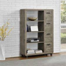bookcases for home office. eastlin brown bookcase with bins bookcases for home office