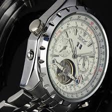 jargar men gent white tourbillon date aviator mechanical watch jargar men gent white tourbillon date aviator mechanical watch wm142