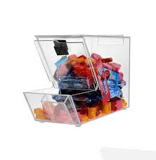 acrylic candy bin dry foods beans toys bins holder display box countertop container