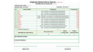 formato de asistencias formato de boletines de calificaciones del mineduc 2018 2019