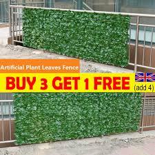 faux artificial hedge slats panel