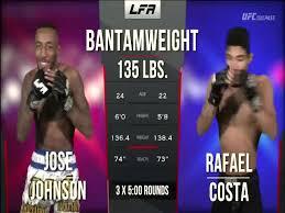 KNOCKOUT - Jose Johnson vs Rafael Costa Full Fight LFA 78 MMA Video