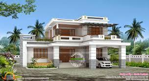 decorative flat roof house