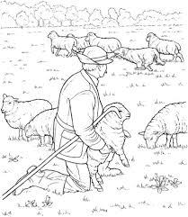 Kudde Schapen Met Herder Kleurplaat Gratis Kleurplaten Printen