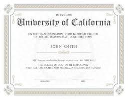 degree certificate templates university of california graduate programs fresh 11 free printable