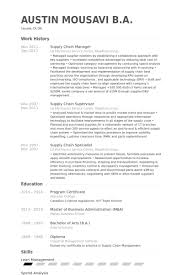 Supply Chain Manager Resume samples