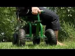 deluxe rolling garden seat with easy