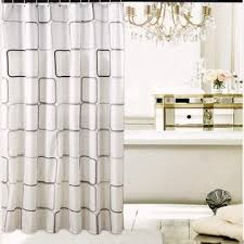 images gallery bathroom shower polyester curtain with curtain hooks rings beige