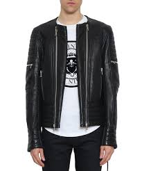 l inde le palais balmain men collections spring summer 2018 laced biker leather jacket