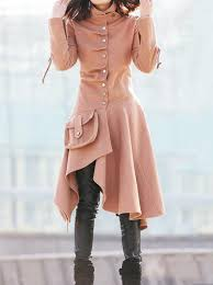brown coat winter coat wool coat womens coat swing coat asymmetrical