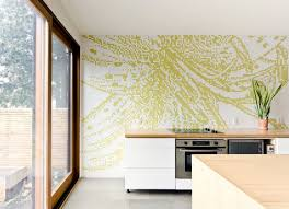 Kitchen Wall Graphic Pixilated Kitchen Wall Interior Design Ideas