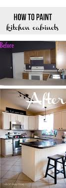 Easy Kitchen Makeover How To Paint Kitchen Cabinets White Islands Nap Times And White