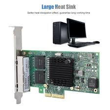 Pci-e <b>4-port</b> Server <b>Gigabit Ethernet</b> Network Card Adapter For Intel ...