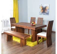 Nilkamal Kitchen Furniture Buy Delmonte 1 4 Bench Dining Kit Home Nilkamal Walnut