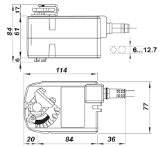 belimo tf24 dimensions wiring diagram