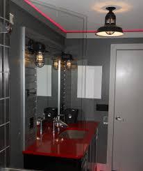 bathroom lighting fixtures rustic lighting. rustic cast guard fixtures put some vrooom in remodeled bath bathroom lighting